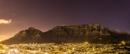 Table Mountain at Night by Diaan Mynhardt