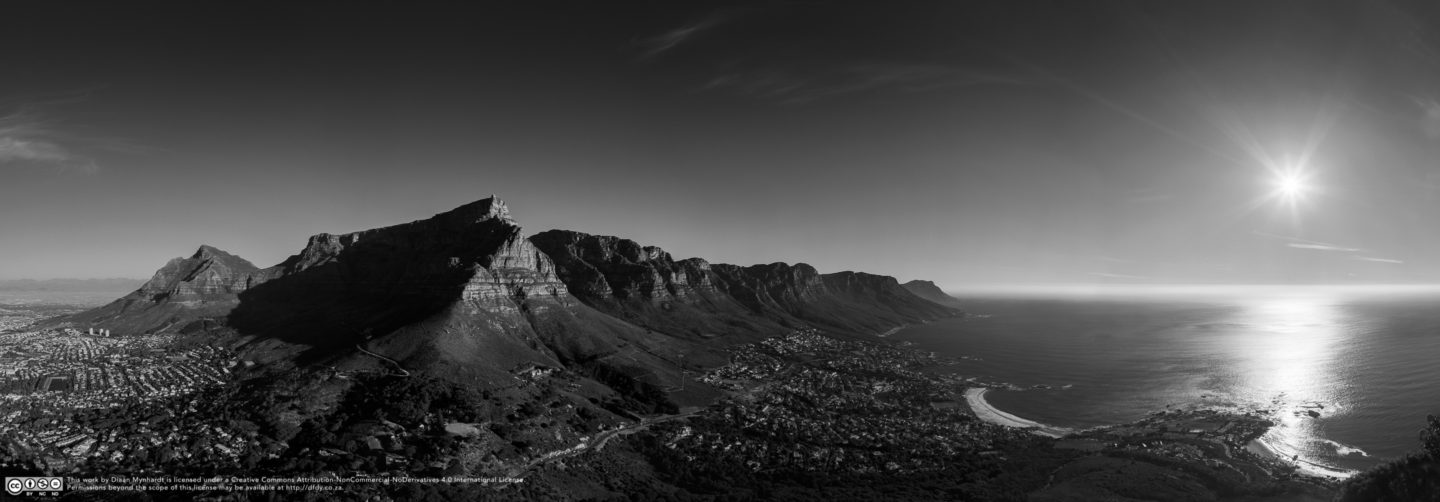 Table Goddamn Mountain by Diaan Mynhardt
