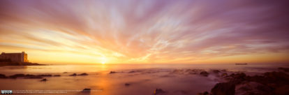 Sea Point Sunset Pano by Diaan Mynhardt