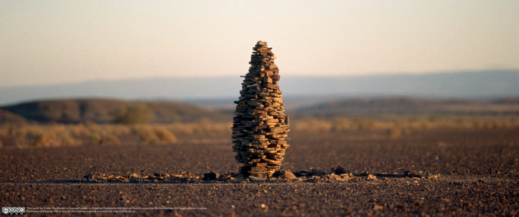 Afrikaburn Stone Stack by Diaan Mynhardt